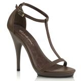 Brun 12,5 cm Fabulicious POISE-526 högklackade sandaletter