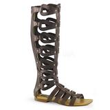 Brun ATHENA-200 knähöga gladiator sandaler för damer