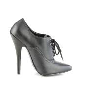 Brun Konstläder 11,5 cm PINUP-07 stora storlekar oxford skor
