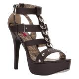 Brun Konstläder 14,5 cm Burlesque TEEZE-42W high heels för män med breda fötter