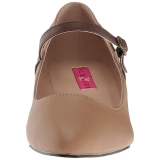Brun Konstläder 5 cm FAB-425 stora storlekar pumps skor