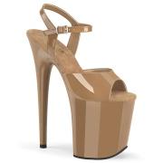 Brun platå 20 cm FLAMINGO-809-2 pleaser high heels skor
