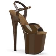 Brun platå 20 cm FLAMINGO-809 pleaser high heels skor