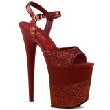 Burgundy Glitter 20 cm FLAMINGO-809-2G High Heels Platform