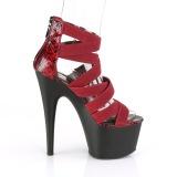 Burgundy elasticated band 18 cm ADORE-748SP pleaser womens shoes