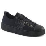 Canvas 4 cm SNEEKER-107 sneakers creepers skor för män