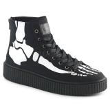 Canvas 4 cm SNEEKER-252 sneakers creepers skor för män