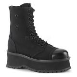 Canvas 7 cm GRAVEDIGGER-10 Platform Mens Ankle Boots