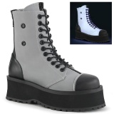 Canvas GRAVEDIGGER-102 demonia ankle boots - steel toe combat boots