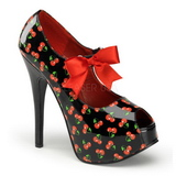 Cherry Black 14,5 cm Burlesque TEEZE-25-3 Womens Shoes with High Heels