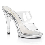 Clear 12 cm FLAIR-402 womens mules shoes