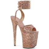 Copper Glitter 20 cm FLAMINGO-891LG High Heels Platform