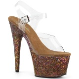 Copper glitter 18 cm Pleaser ADORE-708LG Pole dancing high heels shoes