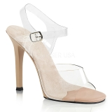 Cream 11,5 cm FABULICIOUS GALA-08 High Heeled Evening Sandals