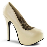Cream Matte 14,5 cm Burlesque BORDELLO TEEZE-06 Platform Pumps