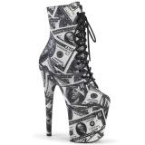 Dollar bills Canvas 20 cm FLAMINGO-1020DP pleaser ankle boots with platform