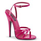 Fuchsia 15 cm DOMINA-108 fetish high heeled shoes