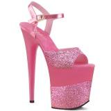 Fuchsia Glitter 20 cm FLAMINGO-809-2G High Heels Platform