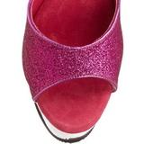 Fuchsia Glittra 15 cm DELIGHT-609-5G Högklackade Sandaletter