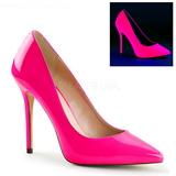 Fuchsia Neon 13 cm AMUSE-20 pointed toe stiletto pumps