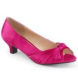 Fuchsia Satin 5 cm FAB-422 stora storlekar pumps skor