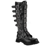Genuine leather RIOT-21MP demonia boots - unisex steel toe combat boots