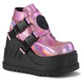 Glitter Vegan 12,5 cm STOMP-15 lolita ankle boots wedge platform
