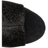 Glittrig 15 cm DELIGHT-1018MMG stövletter med öppen tå