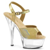 Gold 15 cm Pleaser KISS-209BHG Platform High Heels Shoes