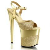Gold Glitter 20 cm FLAMINGO-809-2G High Heels Platform