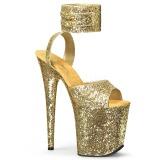 Gold Glitter 20 cm FLAMINGO-891LG High Heels Platform