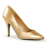 Gold Matte 10 cm VANITY-420 pointed toe pumps high heels