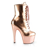 Gold Patent 18 cm ADORE-1020 womens platform ankle boots