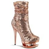 Gold Rose Sequins 15,5 cm BLONDIE-R-1009 pleaser ankle boots with platform