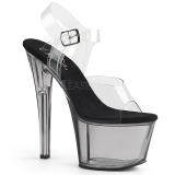 Grå 18 cm SKY-308T Akryl platå klackar skor