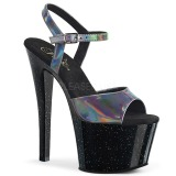 Grå 18 cm SKY-309HG Hologram platå klackar skor