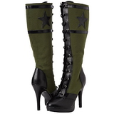 Green 11,5 cm FUNTASMA ARENA-2022 High Heeled Lace Up Boots