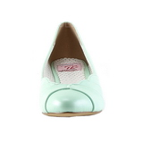 Green 4 cm retro vintage LULU-05 Pinup Pumps Shoes with Low Heels