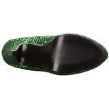 Green Glitter 13 cm LOLITA-300G Platform Knee Boots