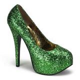 Green Glitter 14,5 cm BORDELLO TEEZE-06G Platform Pumps