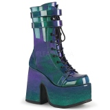 Green Patent 12,5 cm CAMEL-250 demonia ankle boots platform