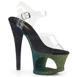 Green glitter 18 cm Pleaser MOON-708OMBRE Pole dancing high heels shoes