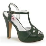 Grön 11,5 cm BETTIE-23 Höga Fest Sandaler med Klack