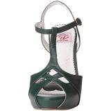 Grön 11,5 cm retro vintage BETTIE-23 Höga Fest Sandaler med Klack