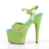Grön 18 cm ADORE-709-2G glittriga platå sandaler skor