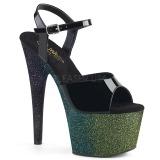 Grön 18 cm ADORE-709OMBRE glittriga platå sandaler skor