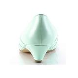 Grön 4 cm retro vintage LULU-05 Pinup pumps skor med låg klack