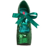 Grön Glitter 14,5 cm TEEZE-10G Platform Pumps Skor