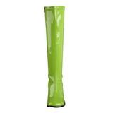 Grön Lackerade 8,5 cm GOGO-300 Höga Damstövlar för Män