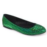 Grön MERMAID-21 ballerinaskor platta damskor